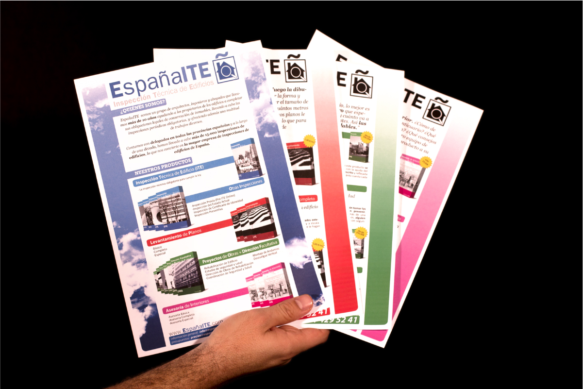 Set of standard brochures